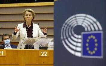 Φον ντερ Λάιεν: Η Ευρώπη δεν έχει βγει ακόμη από τις δυσκολίες, αλλά βλέπει κάπου φως