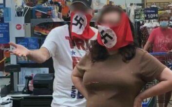 Κολοσσός σούπερ μάρκετ απέκλεισε ζευγάρι γιατί φορούσε μάσκες με σβάστικα