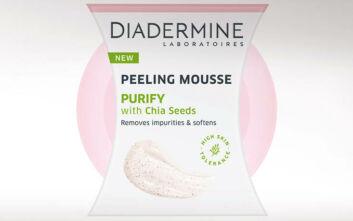 Νέες σειρές καθαρισμού και περιποίησης προσώπου Peeling Mousses και Naturally BIOme Με την υπογραφή της DIADERMINE