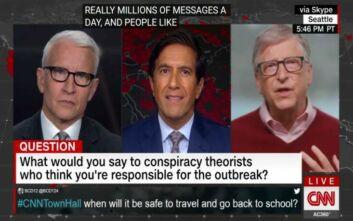Ο Μπιλ Γκέιτς απαντά σε όσους τον κατηγορούν ότι κρύβεται πίσω από την πανδημία
