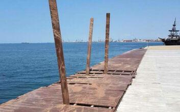 Δήμος Θεσσαλονίκης: Μήνυση κατά παντός υπευθύνου για τους βανδαλισμούς στη νέα παραλία