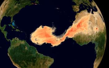 Σύννεφο Γκοτζίλα: Το εντυπωσιακό φαινόμενο με σκόνη από τη Σαχάρα να σκεπάζει τον Ατλαντικό