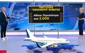 Πάνω από 4.000 τεστ σε «κόκκινους» επιβάτες στα αεροδρόμια