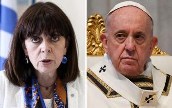 Τηλεφωνική επικοινωνία με τον Πάπα για την Αγία Σοφία θα έχει σήμερα η Κατερίνα Σακελλαροπούλου