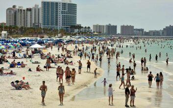 ΗΠΑ - Κορονοϊός: Ρεκόρ ημέρας με πάνω από 15.000 νέα κρούσματα σε ένα 24ωρο στη Φλόριντα