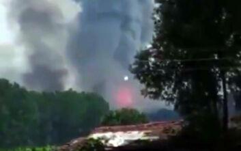 Τουρκία: Ισχυρή έκρηξη σε εργοστάσιο πυροτεχνημάτων