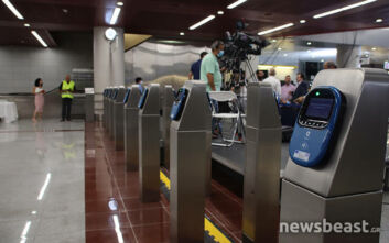 Οι πρώτες εικόνες από τον σταθμό του Μετρό στη Νίκαια