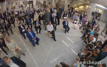 Μητσοτάκης, Καραμανλής και  Κεφαλογιάννης έφτασαν Νίκαια με το μετρό - Σχέδιο ανάπλασης της Δυτικής Αττικής και του Πειραιά