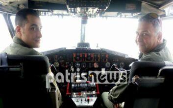 Δυο Ηλείοι πιλότοι σε Canadair: Μάχη με τις φλόγες από τους αιθέρες