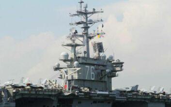 Οι ΗΠΑ στέλνουν αεροπλανοφόρα σε κινεζικές στρατιωτικές ασκήσεις στη Νότια Σινική Θάλασσα