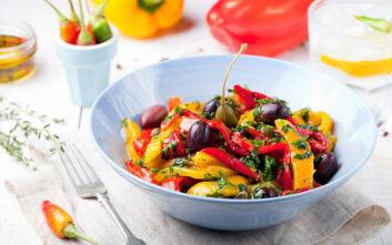 Σαλάτα ψητών λαχανικών με σπιτικό dressing