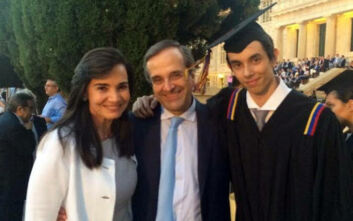 Ο γιος του Αντώνη Σαμαρά εξελέγη πρόεδρος της Ένωσης Φοιτητών του αμερικανικού κολλεγίου