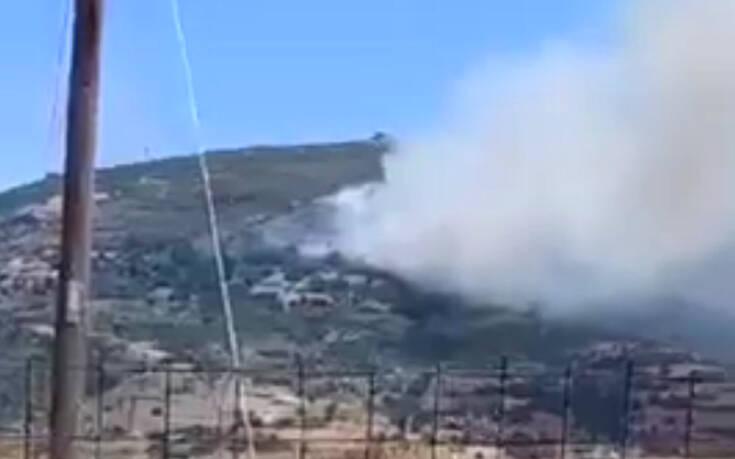 Φωτιά στην Κάρυστο: Ενισχύθηκαν οι δυνάμεις της Πυροσβεστικής - Δείτε τις πρώτες εικόνες
