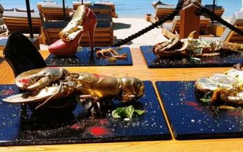 Εστιατόριο στη Μύκονο σερβίρει... γόβα στιλέτο και φύλλα χρυσού