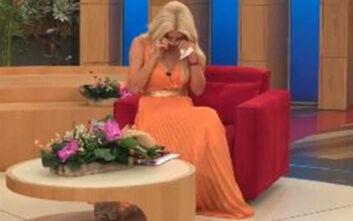 Ξέσπασε σε κλάματα η Ελένη Μενεγάκη όταν δεν έγραφαν οι κάμερες