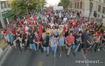 Νέο συλλαλητήριο εναντίοντου νομοσχεδίου για τις διαδηλώσεις στο κέντρο της Αθήνας