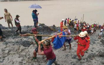 Εκατόμβη νεκρών από την κατολίσθηση σε ορυχείο της Μιανμάρ, στους 113 αυξήθηκαν οι θάνατοι