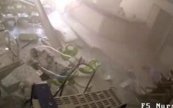 Νέο σοκαριστικό βίντεο από την έκρηξη στη Βηρυτό: Το ωστικό κύμα παρέσυρε τα πάντα