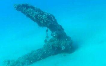Το ξεχασμένο ναυάγιο στον Αγιόκαμπο και η παλιά άγκυρα που «στολίζει» τον βυθό