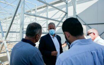 Πληγείσες αγροτοκτηνοτροφικές μονάδες στην Εύβοια επισκέφθηκε ο Μάκης Βορίδης