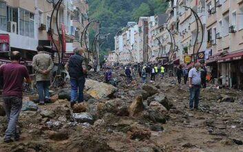 Τέσσερις νεκροί και 11 αγνοούμενοι σε ξαφνικές πλημμύρες στην Κερασούντα