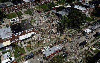 Μεγάλη έκρηξη στη Βαλτιμόρη: Τρία σπίτια ισοπεδώθηκαν, τουλάχιστον 1 νεκρή ενώ 3 χαροπαλεύουν
