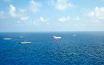 Oruc Reis: Άλλαξε πάλι πορεία το τουρκικό ερευνητικό – Το παρακολουθεί το Πολεμικό Ναυτικό