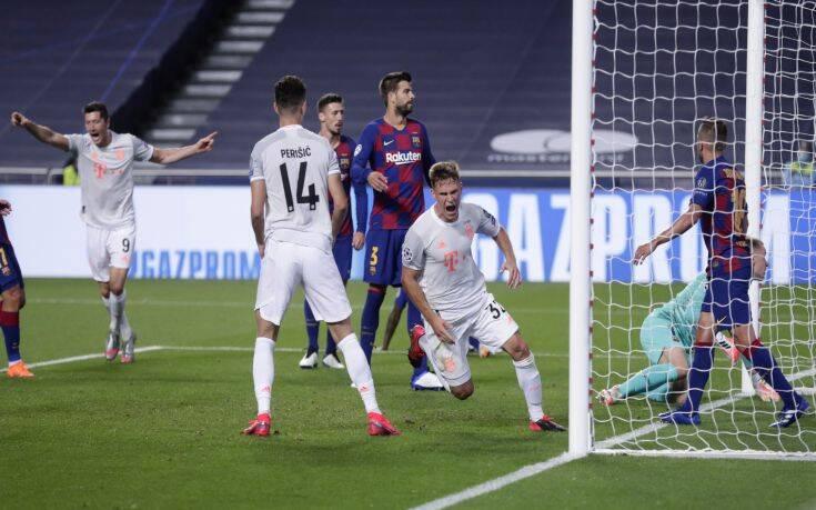 Champions League: Εξωπραγματική Μπάγερν, διέσυρε με 8-2 τη Μπαρτσελόνα