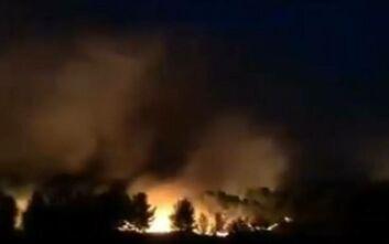 Μεγάλη φωτιά τώρα κοντά στη Μασσαλία:Εκκενώνονται κάμπινγκ