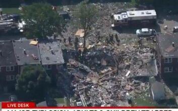 Μεγάλη έκρηξη στη Βαλτιμόρη – Ισοπεδώθηκαν σπίτια, τουλάχιστον 1 νεκρός