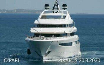 Ένα πλωτό παλάτι 95 μέτρων: Το ελληνικής κατασκευής mega-yacht O'PARI στη Μαρίνα Ζέας