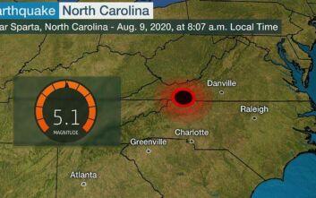 Σεισμός στη Βόρεια Καρολίνα: Ο ισχυρότερος των τελευταίων 104 ετών στην περιοχή