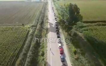 Κακαβιά: Ουρές χιλιομέτρων στο δρόμο για την Ελλάδα