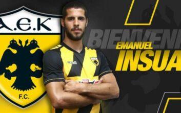 AEK: Επίσημα κιτρινόμαυρος ο Εμάνουελ Ινσούα