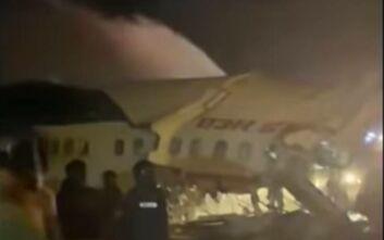 Ινδία: Τουλάχιστον 14 οι νεκροί από το αεροπλάνο που κόπηκε στα δύο