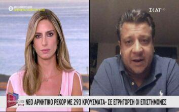 Δερμιτζάκης: Ενδέχεται κορύφωση του κορονοϊού το 15ήμερο μετά το Δεκαπενταύγουστο