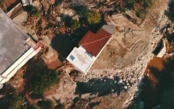 Εύβοια: Εικόνες από drone στα λασπωμένα Πολιτικά μετά τη φονική κακοκαιρία