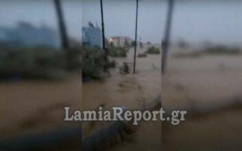 Συγκλονιστικό βίντεο από τις πλημμύρες στην Εύβοια