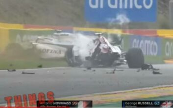 Formula 1: Γλίτωσαν τα χειρότερα οι Τζοβινάτσι - Ράσελ μετά από σύγκρουση των μονοθεσίων