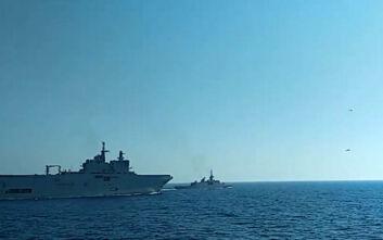 Εικόνες και βίντεο από την κοινή άσκηση Ελλάδας - Γαλλίας στην Ανατολική Μεσόγειο