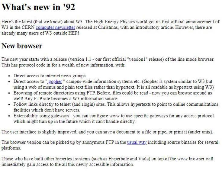 Δείτε πώς ήταν η πρώτη ιστοσελίδα, το μακρινό… 1992 – Newsbeast
