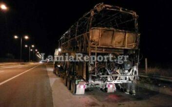 Λεωφορείο του ΚΤΕΛ λαμπάδιασε στην εθνική οδό -Λαχτάρησαν επιβάτες και οδηγός
