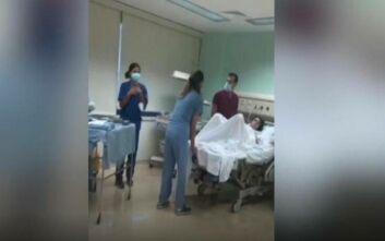 Συγκλονιστικό βίντεο: Μητέρα μπαίνει να γεννήσει την ώρα που γίνεται η έκρηξη στη Βηρυτό