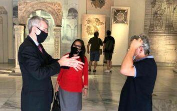 Ξενάγηση του Τζέφρι Πάιατ στο Βυζαντινό Μουσείο