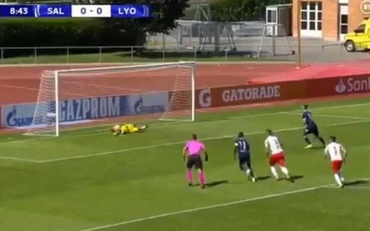 Τρομερή φάση στο Σάλτσμπουργκ - Λιόν: Ο τερματοφύλακας έπιασε τρεις φορές το... ίδιο πέναλτι