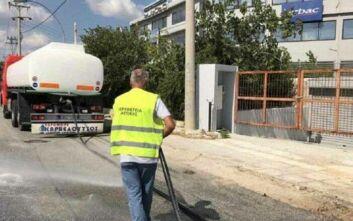 Kαθαρισμοί στη Μεταμόρφωση μετά την πυρκαγιά σε εργοστάσιο πλαστικών ανακύκλωσης