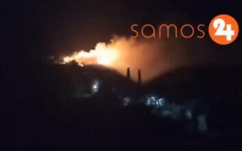 Φωτιά τώρα κοντά στο κέντρο υποδοχής προσφύγων στη Σάμο