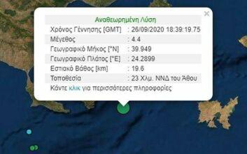 Σεισμός τώρα σε θαλάσσιο χώρο κοντά στο Άγιο Όρος