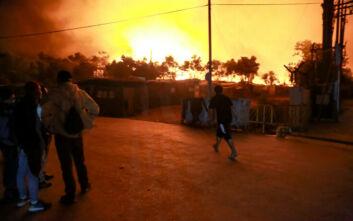 Φωτιά στη Μόρια: Στον εισαγγελέα οι τέσσερις ενήλικοι κατηγορούμενοι