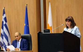Σακελλαροπούλου: Ελλάδα και Κύπρος δεν θα πάψουν τα υπερασπίζονται τα κυριαρχικά τους δικαιώματα